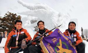 ทีมไทยคว้ารางวัลแกะสลักหิมะซัปโปโร 3 ปีซ้อน