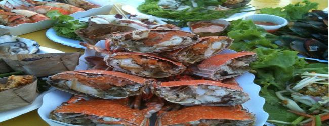 กินซีฟู้ดแสนอร่อย ในเทศกาลกินหอย ดูนก ตกหมึก ที่ชะอำ