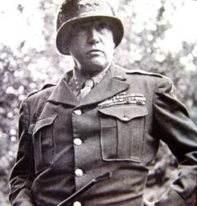 ภาพจอร์จ เอส. แพตตัน นายพลคนดังของสหรัฐสมัยสงครามโลก ครั้งที่2