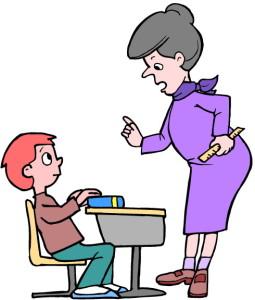 ภาพคุณครูกำลังสอนหนังสือนักเรียน