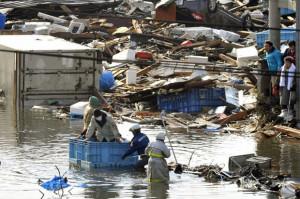 ภาพเหตุการณ์ภัยพิบัติทางธรรมชาติที่เกิดขึ้นกับประเทศญี่ปุ่น สร้างความเสียหายอย่างมหาศาล