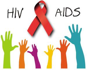 ภาพแบมือห้านิ้ว แสดงสัญลักษณ์หยุดเอดส์