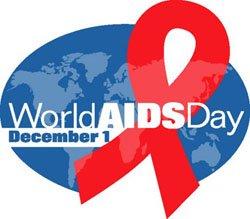 ภาพสัญลักษณ์วันรณรงค์เอดส์สากล 1 ธันวาคมของทุกปี