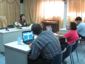 คุณสายสวรรค์ ขยันยิ่ง จัดประชุมแนะนำเว็บไซต์ และรับฟังความเห็นคนตาบอด ที่สมาคมคนตาบอดแห่งประเทศไทย