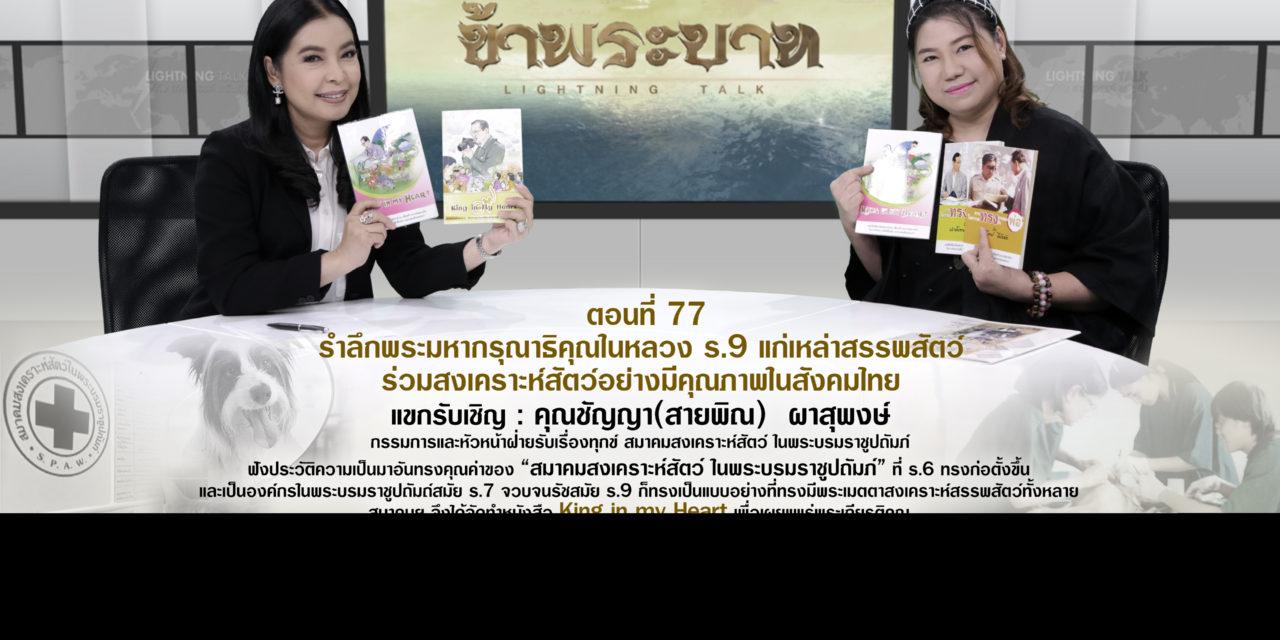 รำลึกพระมหากรุณาธิคุณในหลวง ร.9 แก่เหล่าสรรพสัตว์ ร่วมสงเคราะห์สัตว์อย่างมีคุณภาพในสังคมไทย